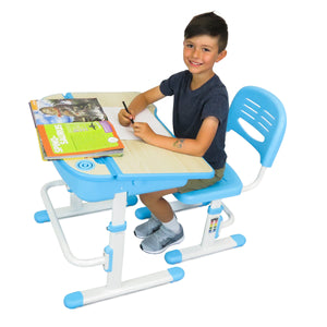 Blue Kids Standing Desk - Adjustable Height - 1