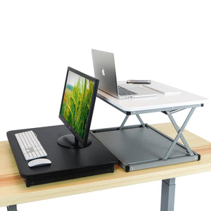 Black Desk Riser 28X Small Standing Desk On Sale