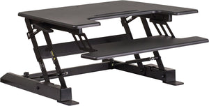 Henry Desk Riser - 28 Inch Black Small Standing Desk - 1