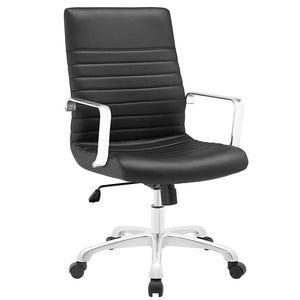 Marcus Chair - Vinyl Black Office Chair - 1
