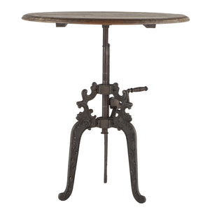 Old World Style Hand Crank Cafe Table