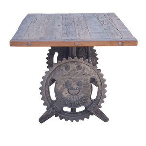 Steampunk Table - Adjustable Crank Table - 1