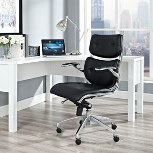 Ronaldo Vinyl Office Chair - Black - Office Picture
