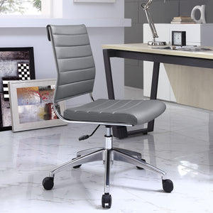 Jive Armless Midback Office Chair - Gray - Room Picture
