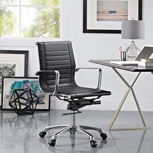 George Mid Back Office Chair in Black