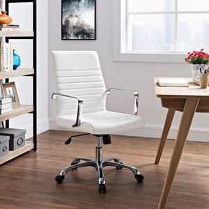 Joss White Mid Back Office Chair - 1