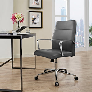 Berkeley Mid Back Chair - Gray - Office Picture