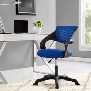 Contoured Mess Office Chair - Blue - Office Picture