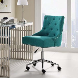 Duke Tufted Office Chair in Teal