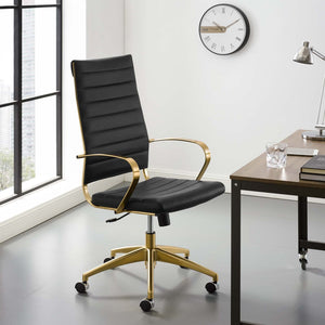 Golden Highback Executive Office Chair in Black - 1