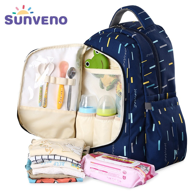Sunveno Diaper Backpack and Lunchbox Set