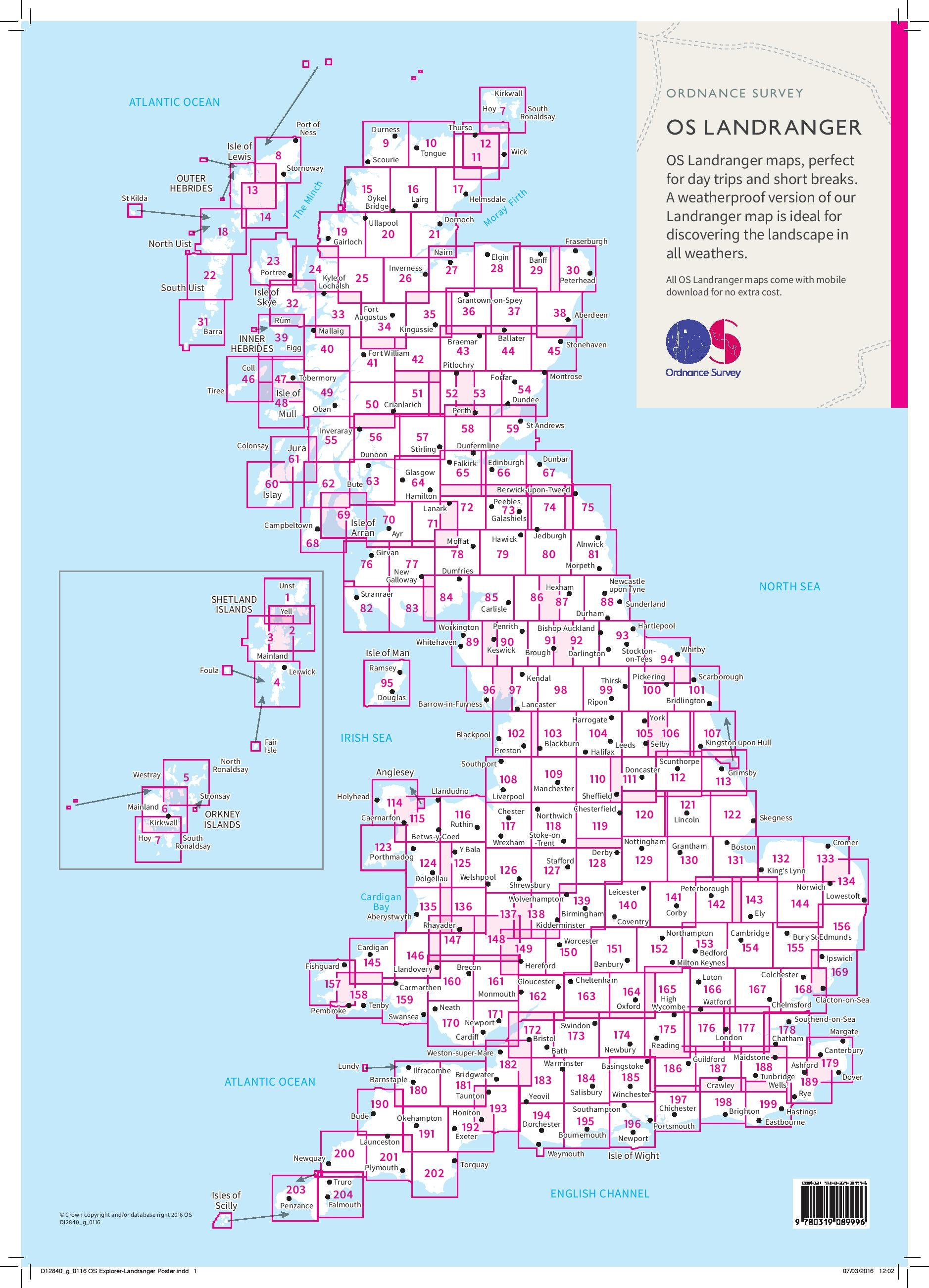 Ordnance Survey- cartes Landranger