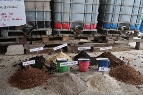 COMSA staff introduce and explain different components of their fertilizers.