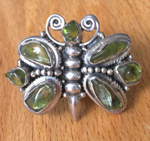Peridot Butterfly Ring