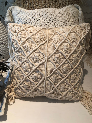 Coastal Macramé Cushion