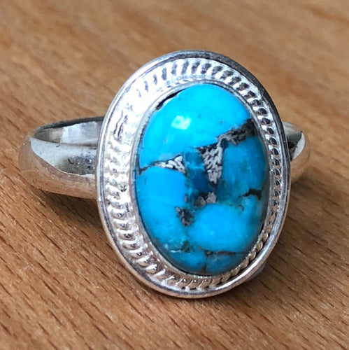 Turquoise OVAL POLISHED RING