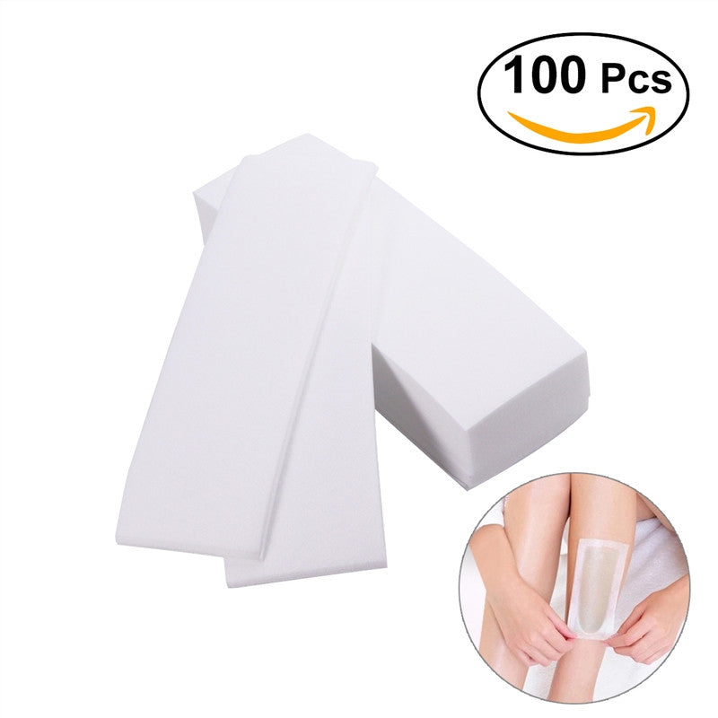 100pcs Professional Facial & Body Hair Removal Wax Strips Paper Depilatory Nonwoven Epilator