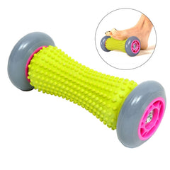 Soft Rubber Foot Roller Massager for Plantar Fasciitis Relief Yoga Fitness Roller Acupressure Reflexology Massager Stick for Cellulite
