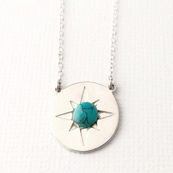 a7d0735d61a922 Live Fully SUN Necklace with Turquoise - My True North Jewelry