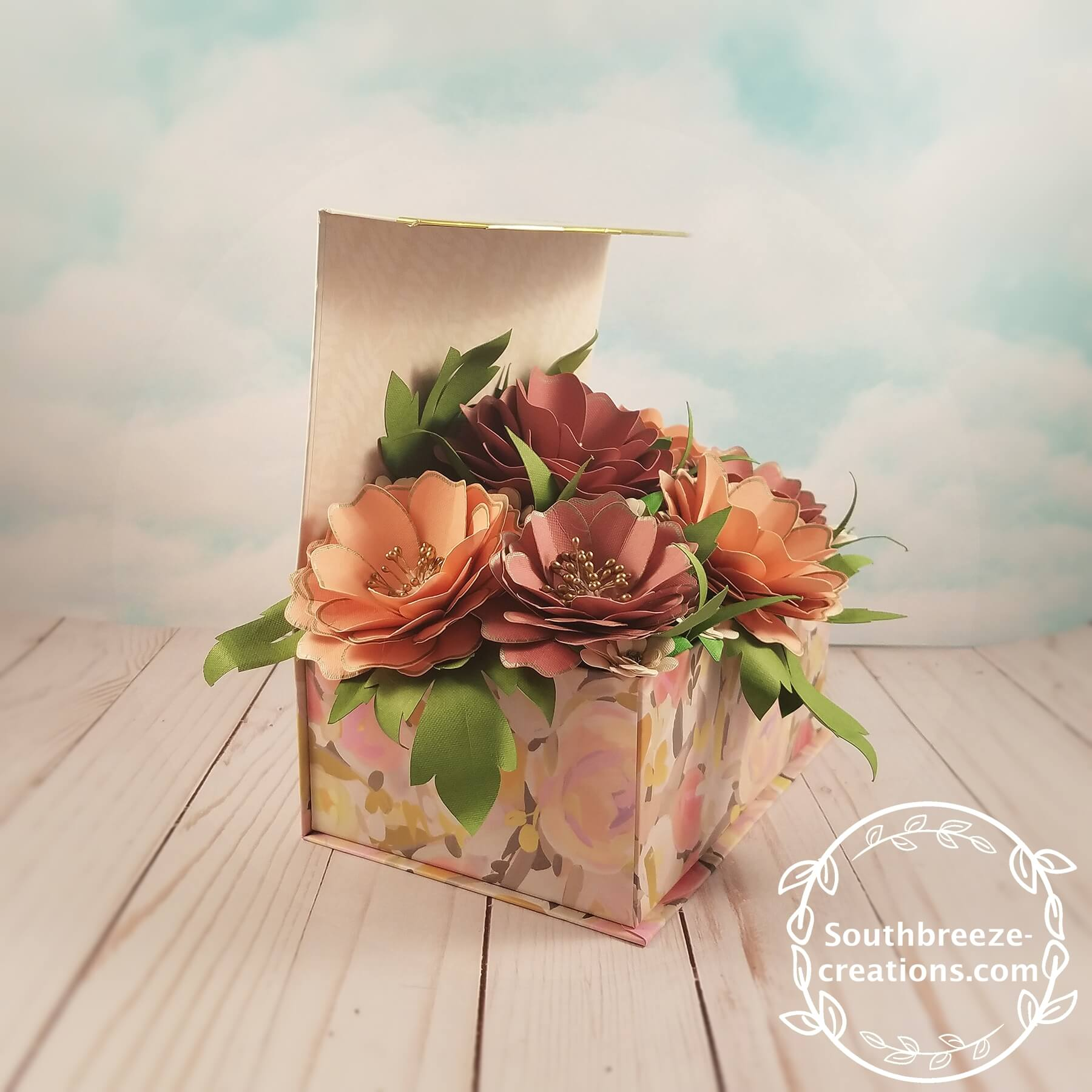 Dusty Rose Paper Flower Arrangement Made By Southbreeze Creations