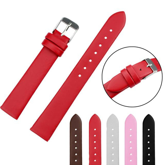 16mm Watchbands For Women Wristwatches Fashion PU Leather Watch Strap Watch Band 5 Colors &03