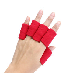 10pcs Sports Elastic Finger Support Sleeve Protector Stretch Basketball Finger Guard Support Sleeves Protector#20