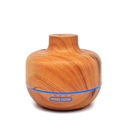 400ml Ultrasonic Aromatherapy Diffuser Wood Grain Ultrasonic Cool Mist Humidifier for Office Home Bedroom Living Room