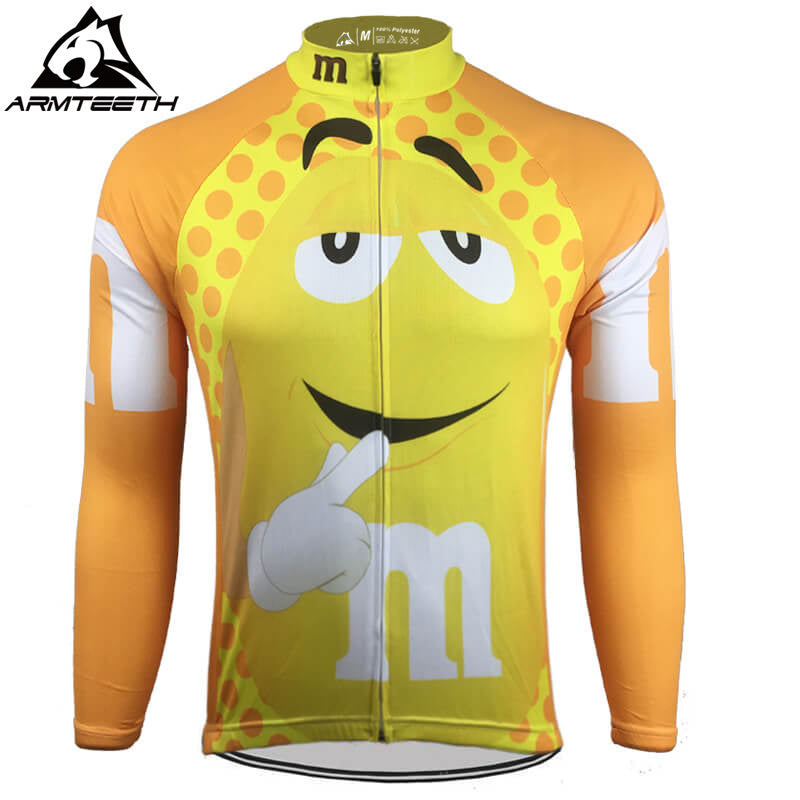 Hot Sale Team Long Cycling Jerseys Racing Sport Ropa Ciclismo Tops Bicycle Long Sleeve Cycling Clothing Yellow