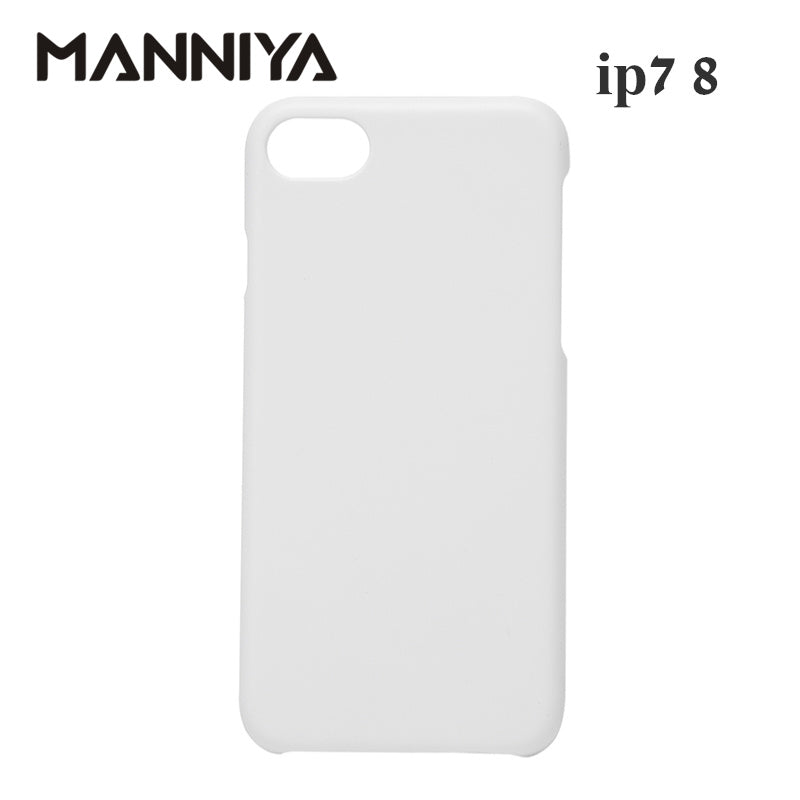 MANNIYA 3D Sublimation Blank white Phone Cases for iphone 7 8 Free Shipping! 100pcs/lot