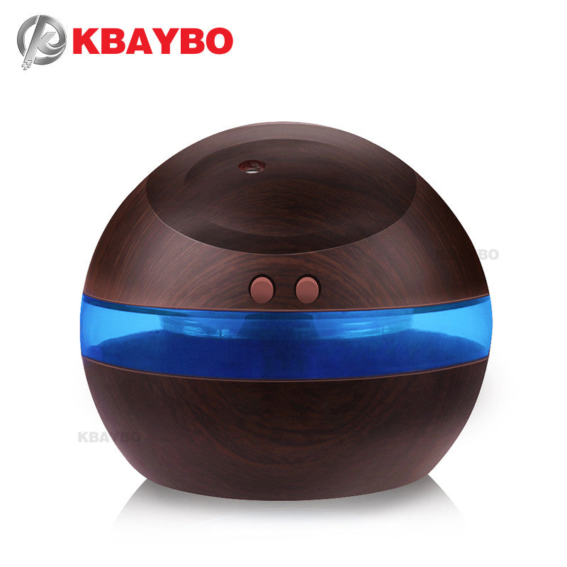 290ml Mini Blue Backlight Humidifier Ultrasonic Humidifier Air Aroma Diffuser Mist Maker Essential Oil diffuser of Home and Car