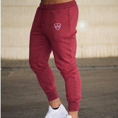 2018 Men Gyms Long pants Mid Cotton Men's Sporting workout fitness Pants casual Fashion sweatpants jogger pant skinny trousers