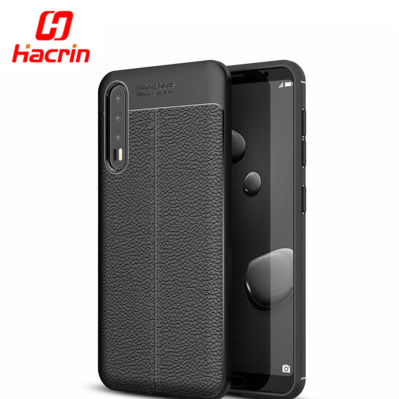 Huawei P20 Pro Cover Bumper Armor Case Litchi Leather Style Ultra Thin Shockproof Cover TPU Silicon For P20 Pro P20 P20 Lite