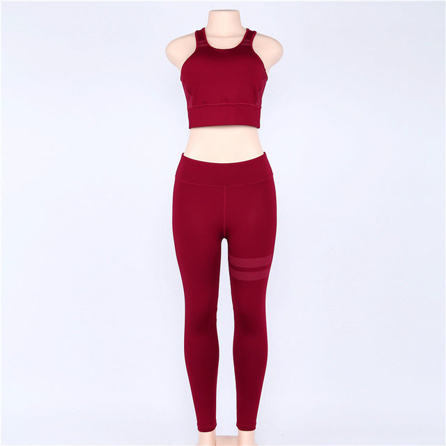 2018 hot Sport Clothing Women Sport Suit Running Set Gym Clothing Sportswear Yoga Set Yoga Clothes Gym Suit Gym Wear Fitness set