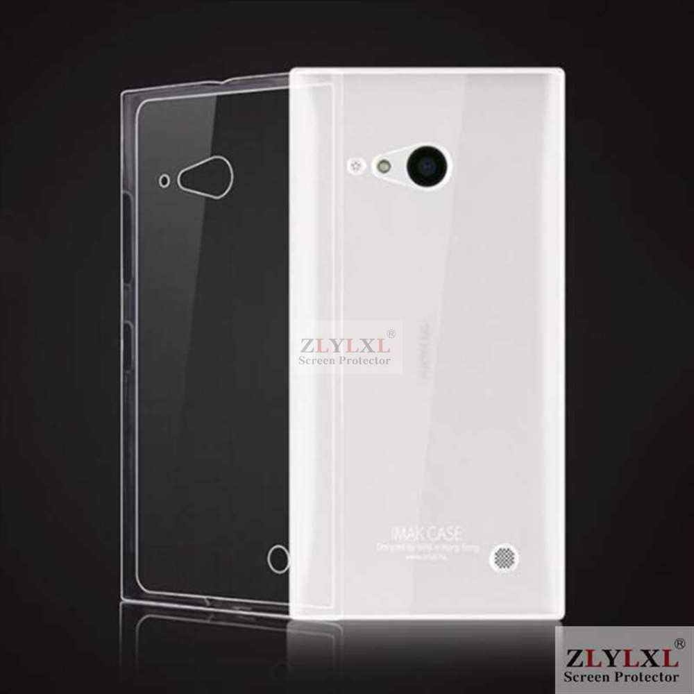 0.3mm thin ice phone Transparent Clear TPU bag back cover Silicone Case for Nokia lumia 730