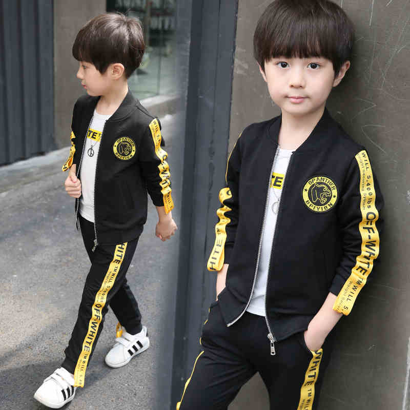 Boys Clothing Sets Kids Clothes Autumn 4 6 7 9 11 13Y Boy Sets Kids Sports Suits Jacket + T-shirts + Pants 3PCS Boys Clothes Set