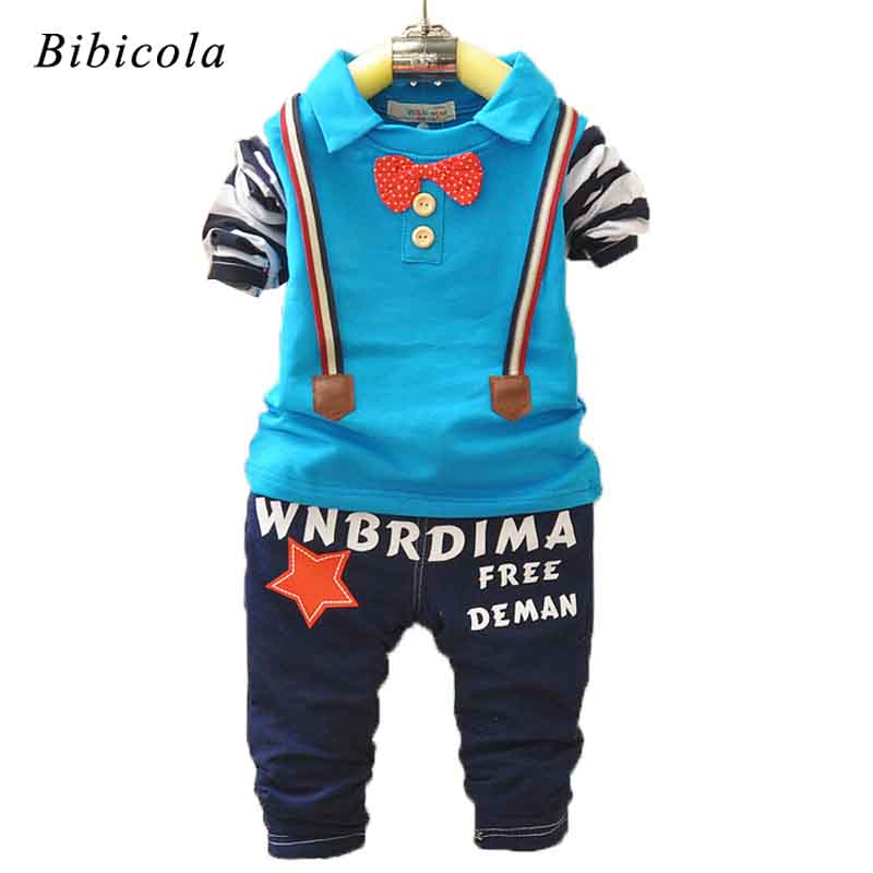 BibiCola Autumn Baby Boy Clothing sets infant Tops + Pants Sport Suit Baby Clothing Set toddle boys Clothing newborn tracksuit