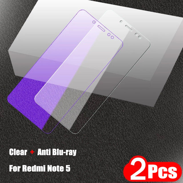 2Pcs/lot Full Tempered Glass For Xiaomi Redmi Note 5 Pro Screen Protector 9H 2.5D Anti Blu-ray Toughened glass For Redmi Note 5