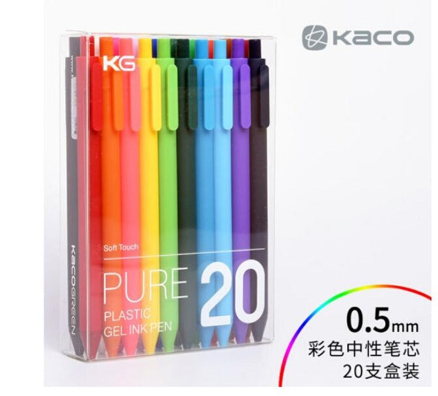 Xiaomi mijia Colorful sign pen ,KACO 20 / 10 colors 0.5mm pen ,write length 400M ,ABS plastic For xiaomi mi home smart home