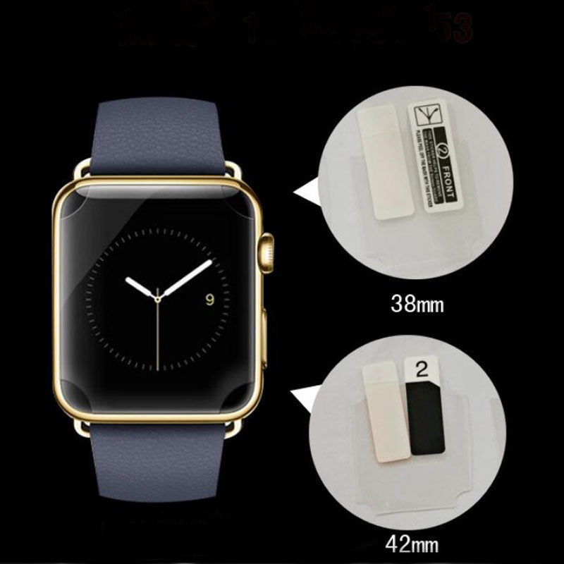 2pcs Anti-Scratch TPU Soft Full Coverage Protective Film For iwatch Apple Watch Series 1/2/3 38mm 42mm Screen Protector Cover