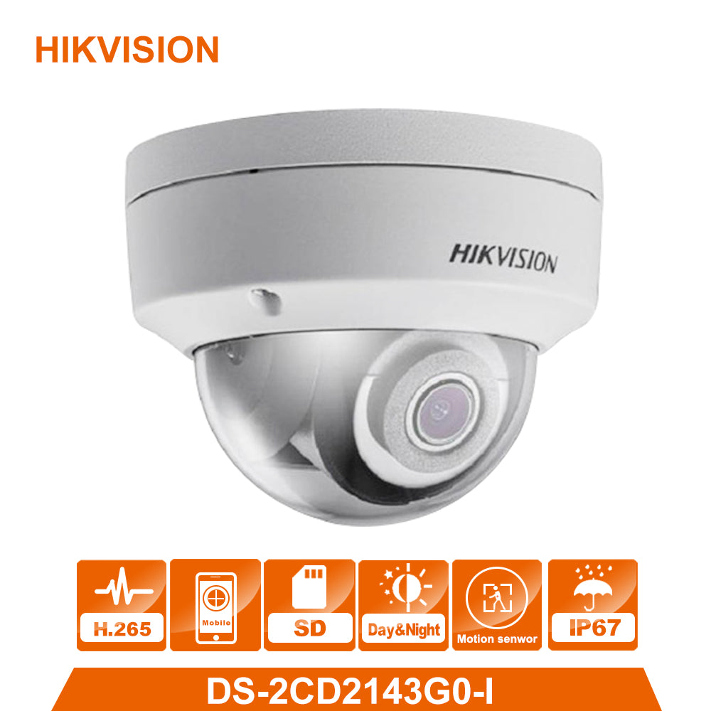 HIKVISION Original DS-2CD2143G0-I 4MP Network Dome Camera Security System upgrade DS-2CD2142FWD-I indoor monitor