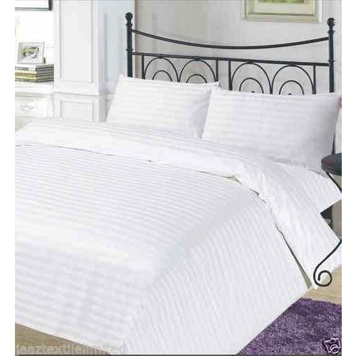 Luxury Duvet Cover With Pillow Case Cotton Stripe - Arlinens