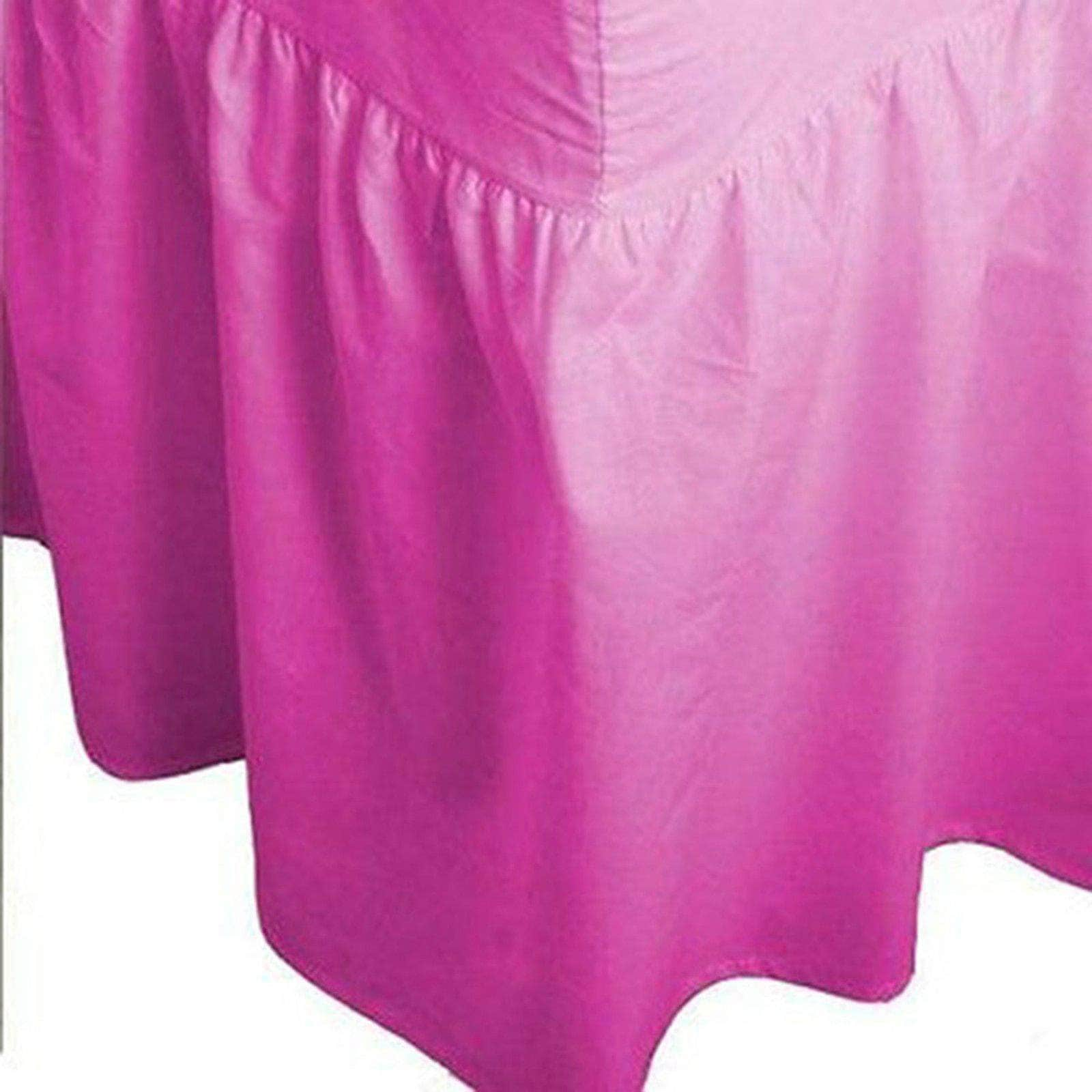 Plain Dyed Fitted Valance Sheet Poly Cotton Bed Sheet In All Sizes - Arlinens