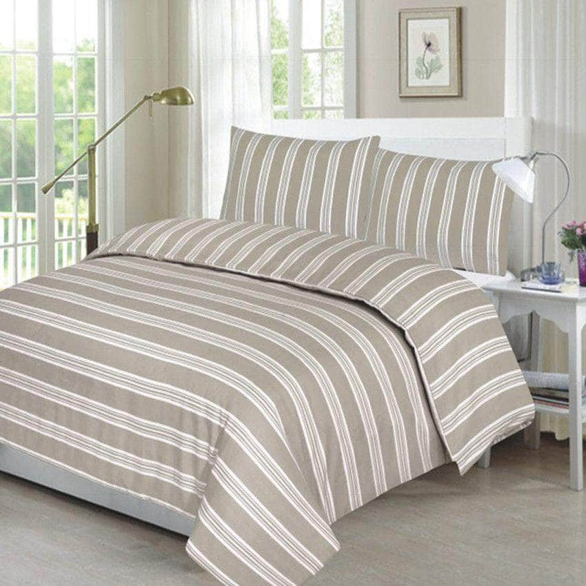 Reversible Duvet Cover with Pillow Case Bedding Set Design Natural In All Sizes - Arlinens