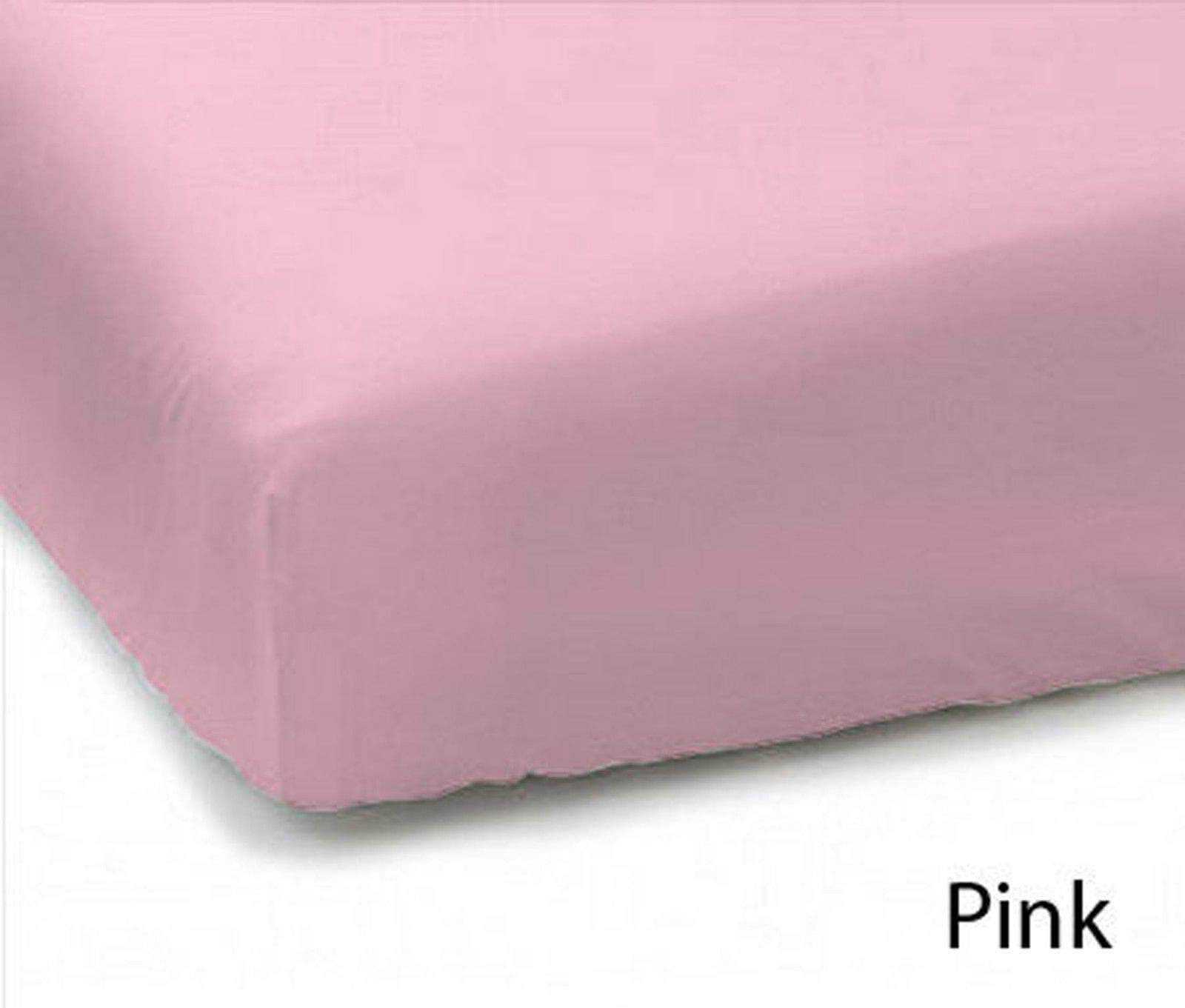 Plain Dyed Polycotton Fitted Sheets Single Double King Super King Pillowcases - Arlinens