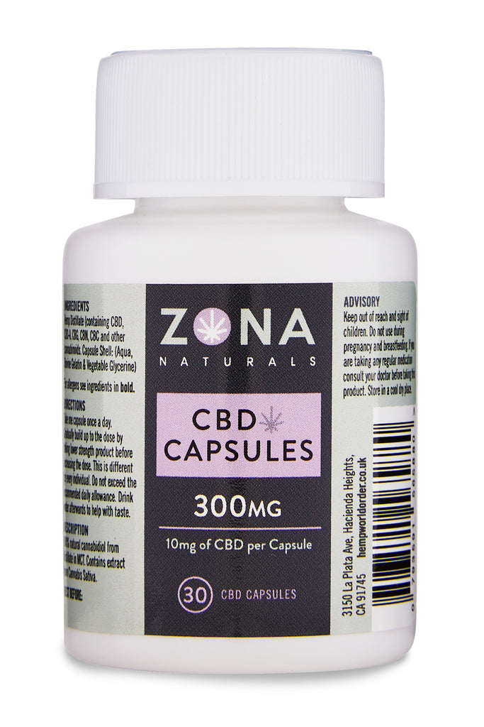 Zona Naturals CBD Capsules - 300mg - Hemp World Order
