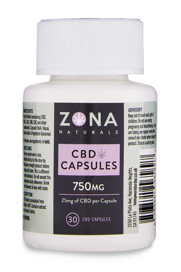 Zona Naturals CBD Capsules - 750mg - Hemp World Order