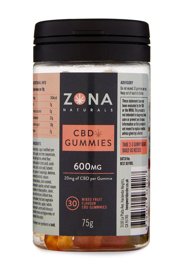 Zona Naturals CBD Gummies - 600mg - Hemp World Order