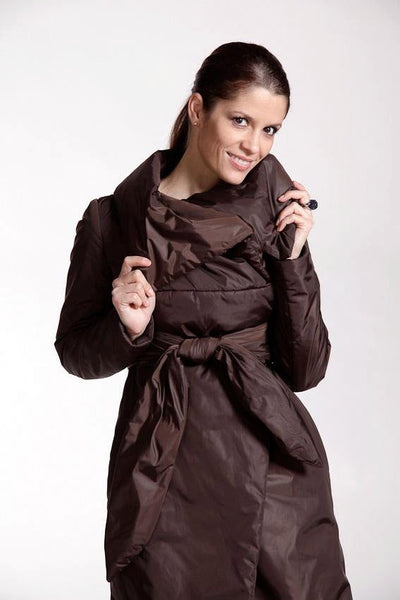 Anna Brown Women's Water Resistant, Warm Long Jacket