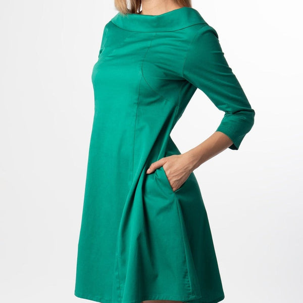 Stephanie A-line Elegant Midi Dress
