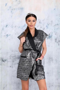 Annie Silver Vest - Dress with a Sash